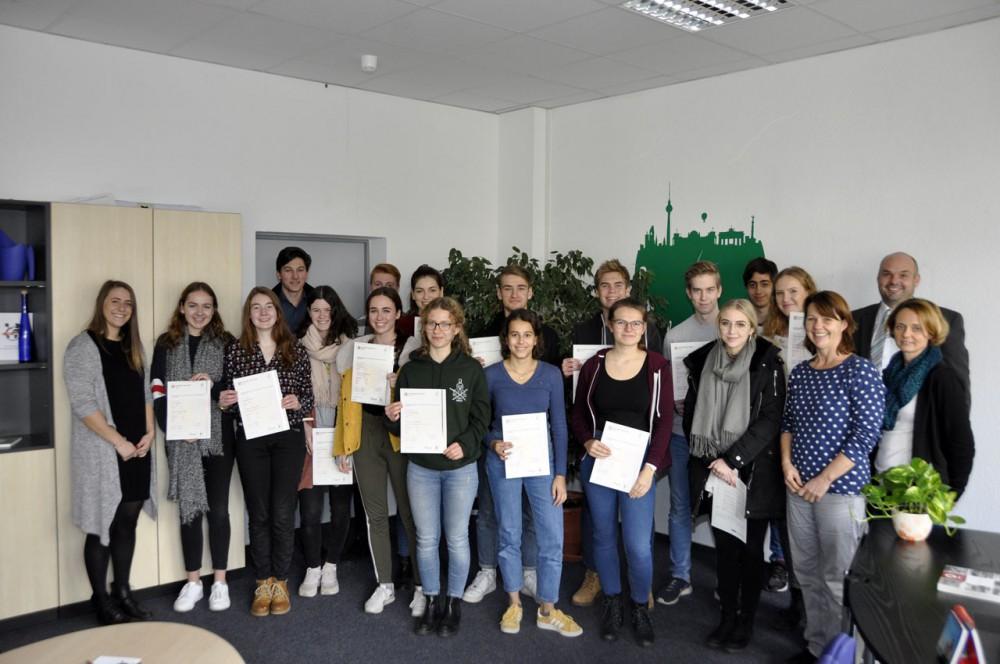 Erfolgreiche Teilnahme von Schülerinnen und Schülern des SMG an anerkannter Sprachprüfung
