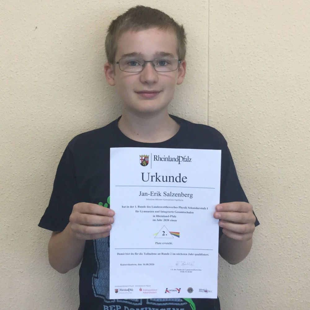 Nachwuchsphysiker erfolgreich im Landeswettbewerb Physik
