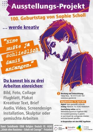 Ausstellungs-Projekt zum 100. Geburtstag von Sophie Scholl