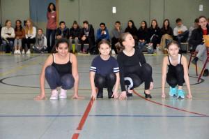 Die Tanz-AG unter Leitung von Lydia Engel in ihrem Element